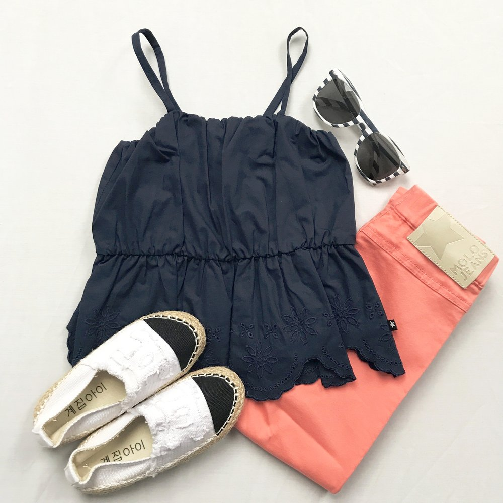 1210da7d66d5 MOLO CORAL AND NAVY OUTFIT