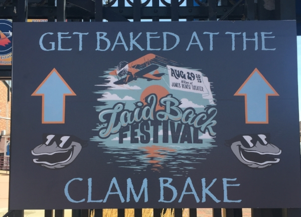 2015 Laid Back Festival at Jones Beach Theater hosted a clam bake