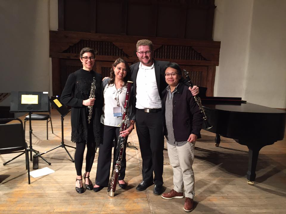 Driftless Winds with composer Chia-yu Hsu at the 2016 College Music society national conference