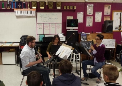 Driftless Winds Perform at Los Alamos Middle School