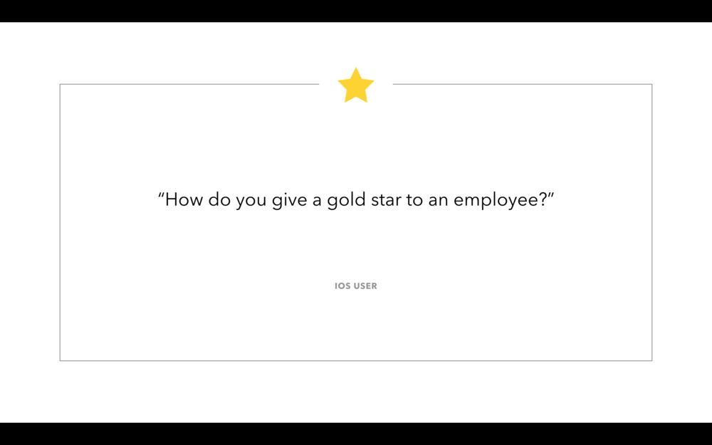 1) Some users were struggling to figure out how they could purchase gold stars.
