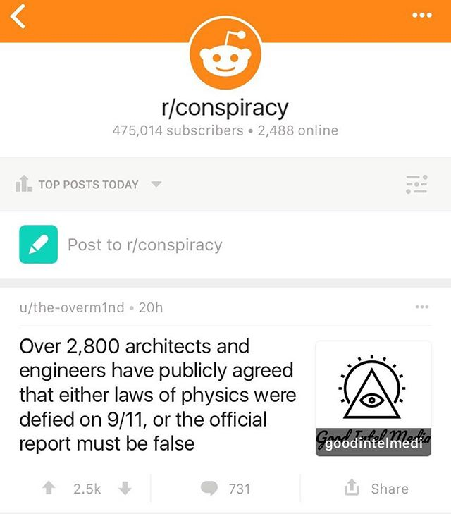 For the 6th time in less than a month one of our articles has reached the #1 spot on reddit conspiracy. If you haven't already, be sure to check out our website and see what all the fuss is about! Goodintelmedia.com #conspiracy #government #911 #reddit #usa #truth