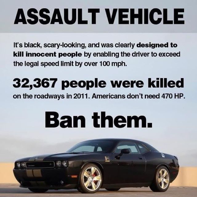 While we're in the business of blaming things that aren't to blame... #usa #cars #guns #ban #government #conspiracy