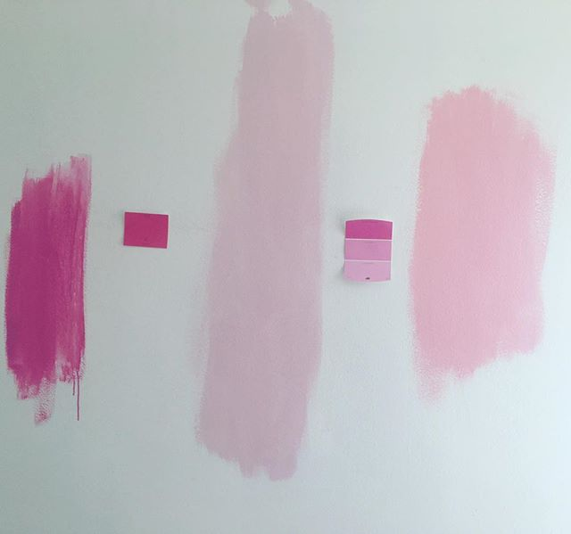 Taking painting to the walls. #renovating #pinkroom #florida #lakeworth #weekend #notcoachella