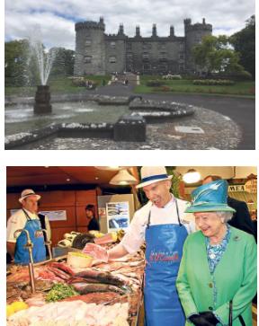 Blarney Castle, and Queen Elizabeth at Cork English Market