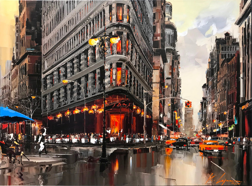 """Attention New York""  Size: 36"" x 48""  Limited edition giclée print on canvas, hand-detailed by the artist. Series of 175."