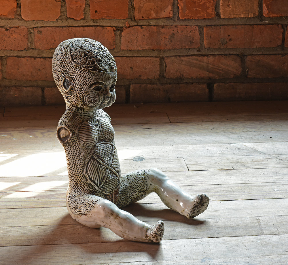 Michele Oka Doner 'Tattooed Doll'