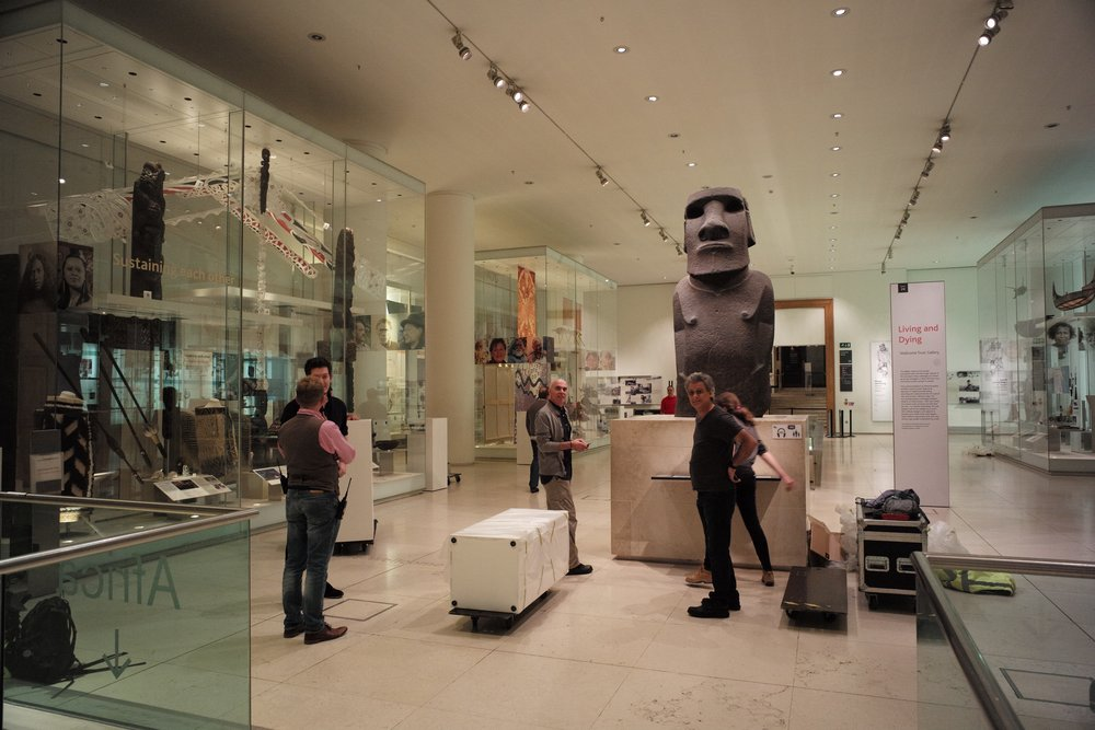 Installation at The British Museum, Meyer Sound and Autograph tech support