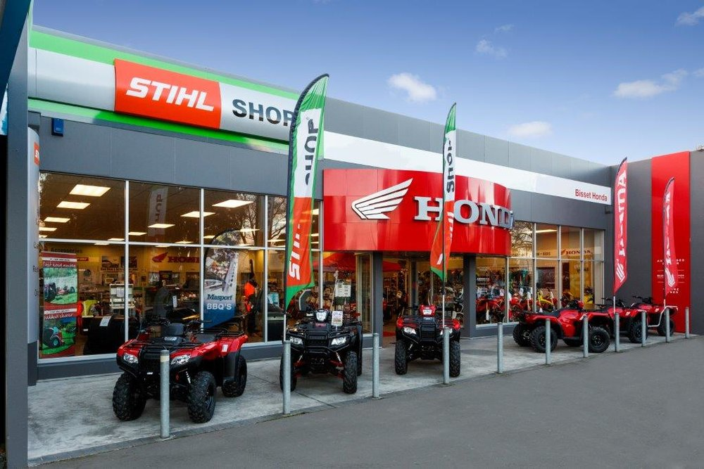 Bisset Honda takes a huge amount of Pride in their appearance, showcasing a tidy a professional storefront that lifts the standard of service in the Tararua region.