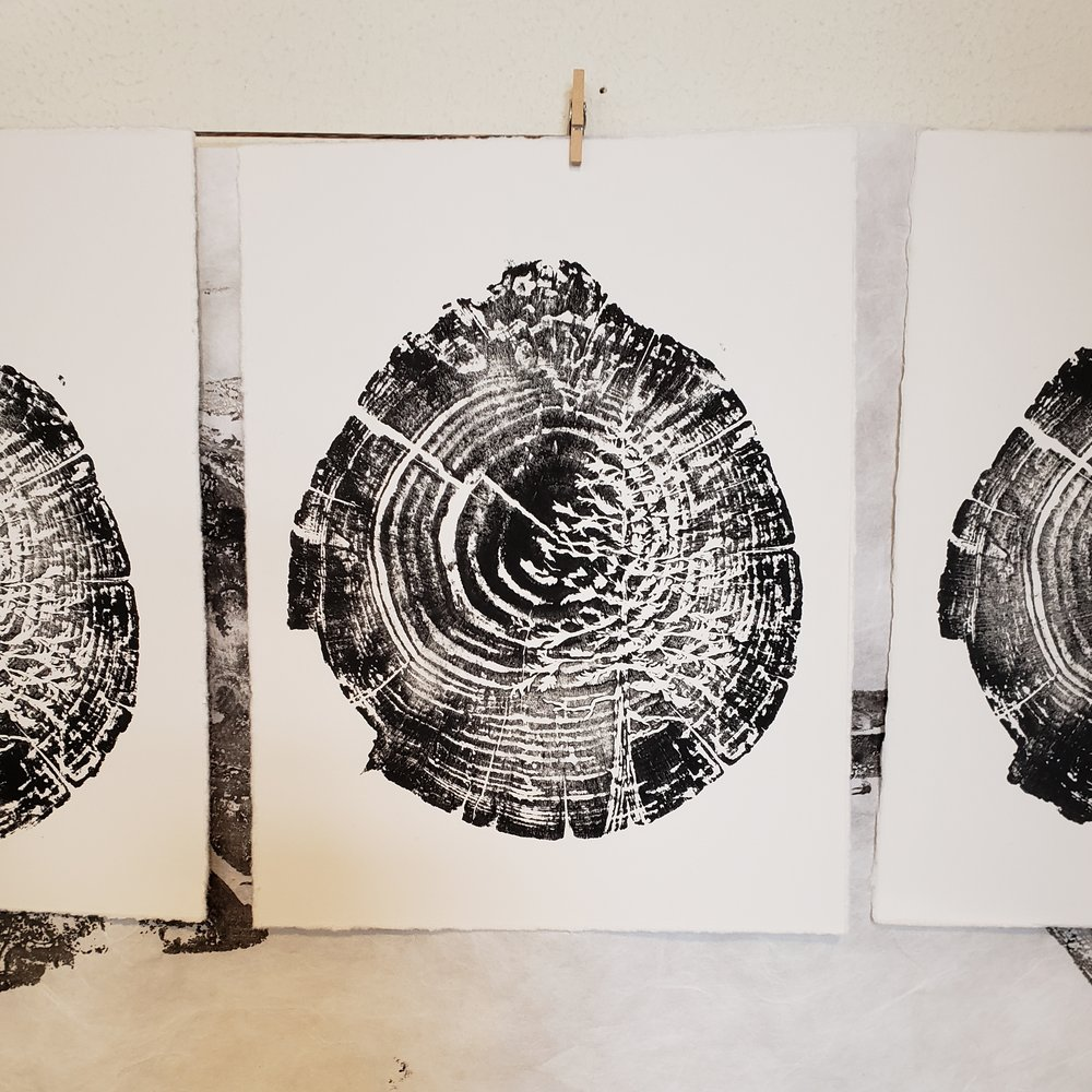 'Sitka in the Wood' Woodblock print by Karen Britt