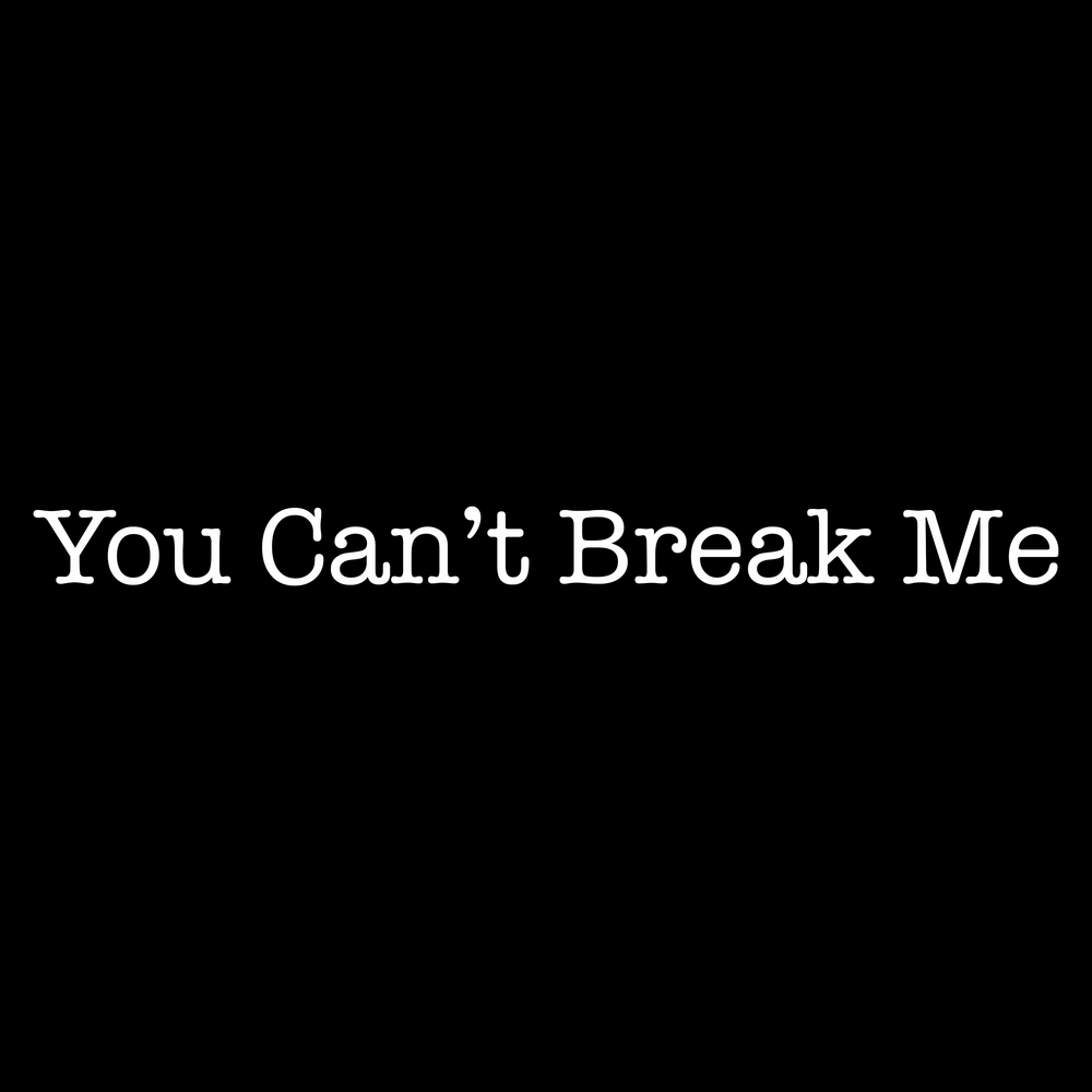 You Can't Break Me - By Todd Pasternack