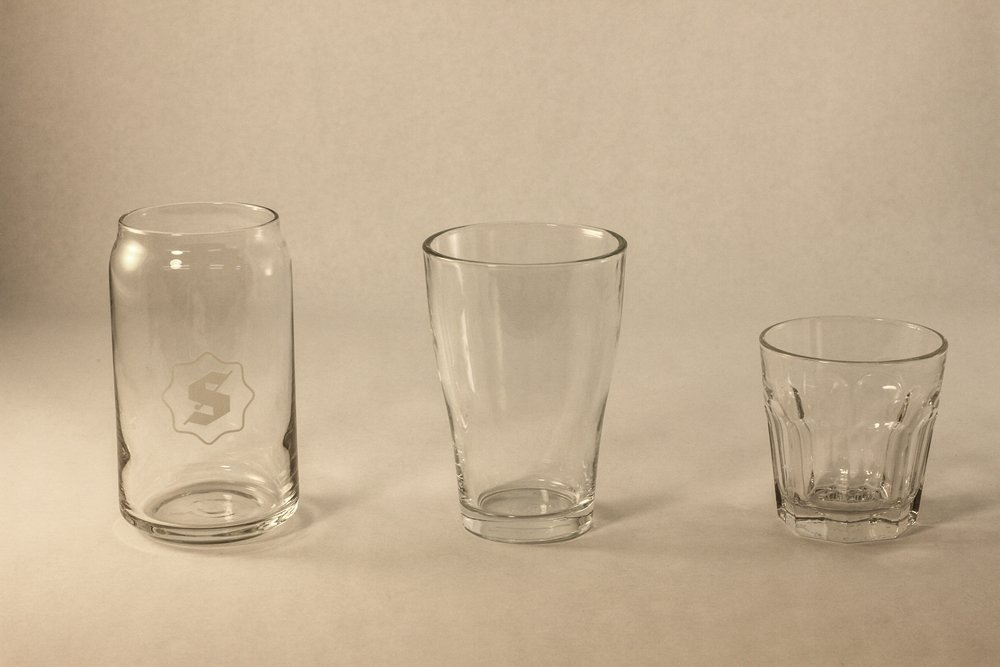Glasses for cold beverages