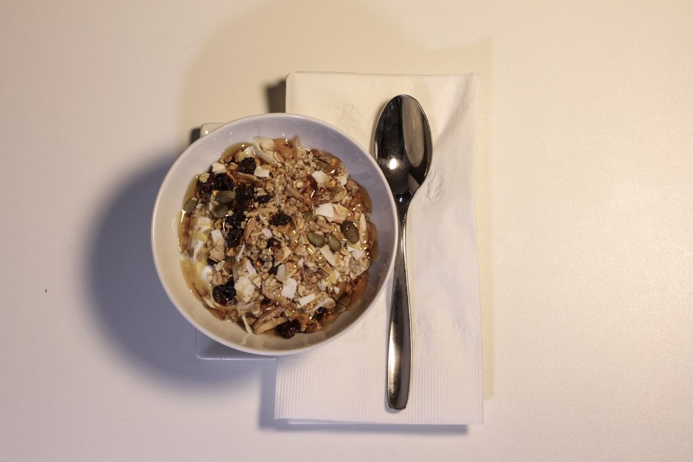 Plated Granola & Yogurt for-here