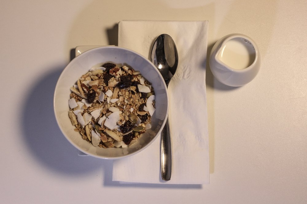 Plated Granola & Milk for-here
