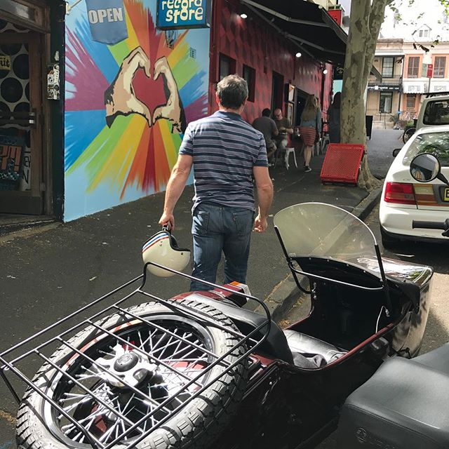 Stopping to pick up some vinyl in Darlinghurst and then a quick coffee #sydneysidecar #vinyl #therecordstoresydney