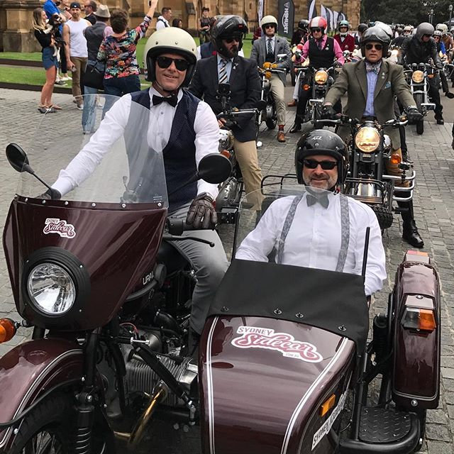 Joining a host of other Distinguished Gentlemen for the annual charity ride in Sydney #sydneysidecar #dgr2017 #sydneysider #uralsidecar