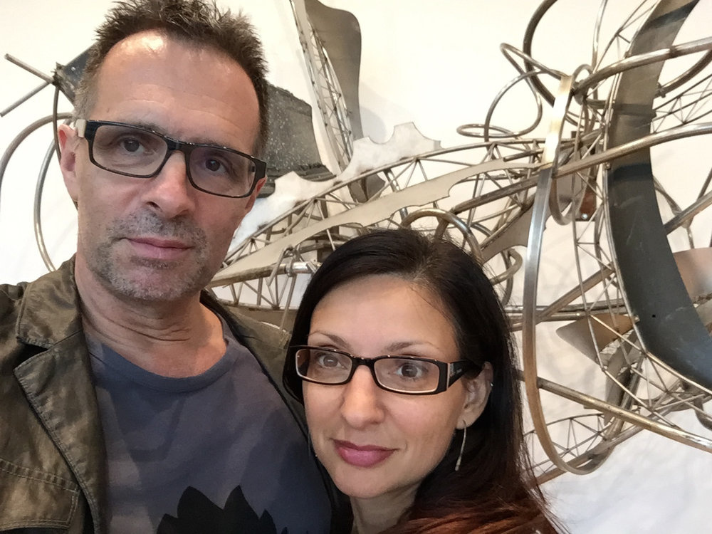 John with Joanne at the Frank Stella retrospective, Whitney Museum