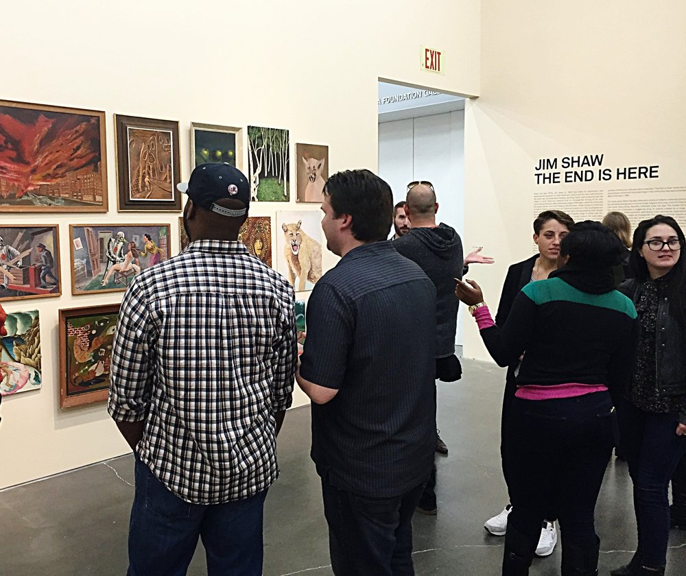 Leading an advertising group through the Jim Shaw retrospective, New Museum