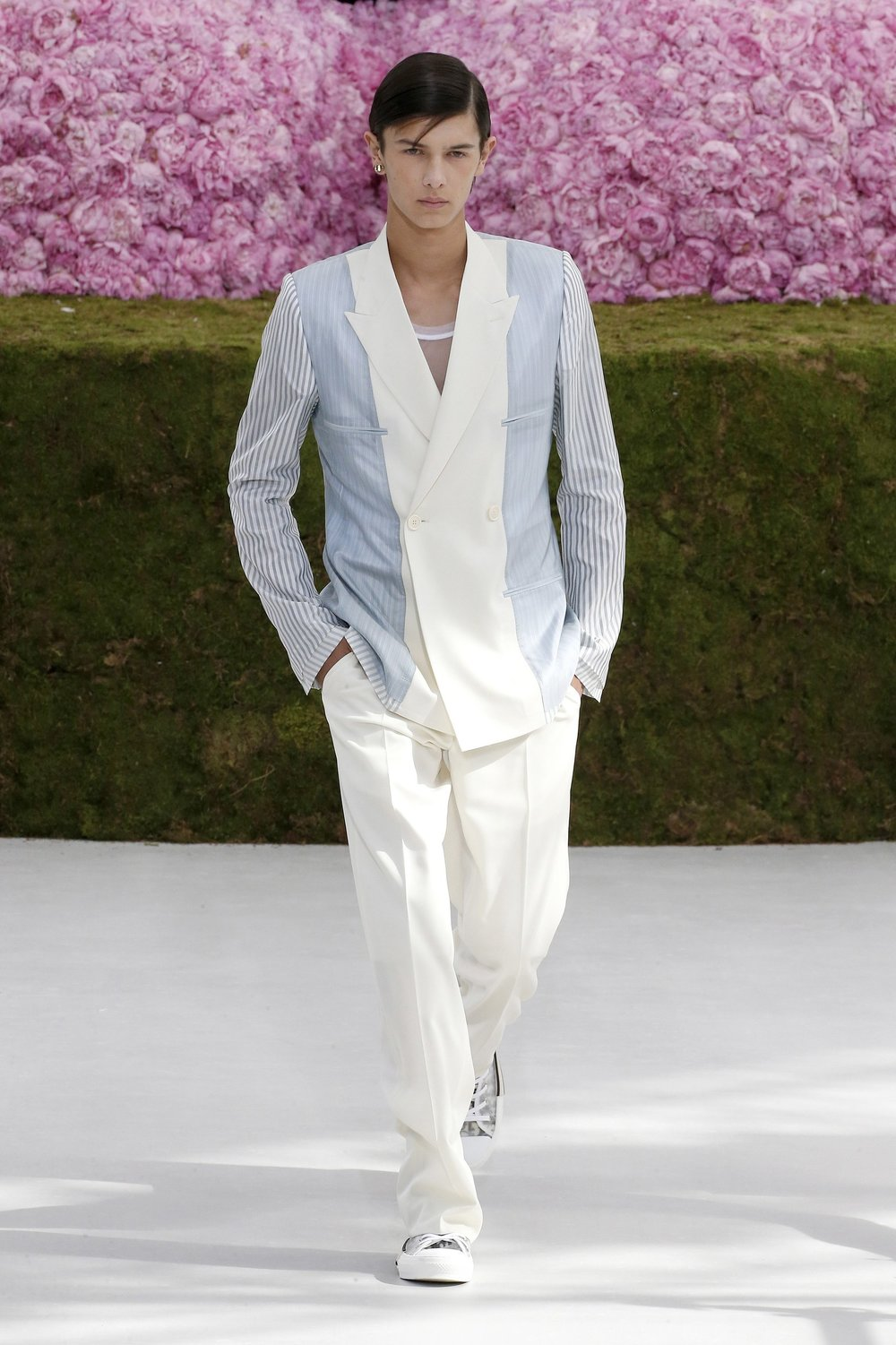 Prince Nicolai of Denmark walking for Dior Homme