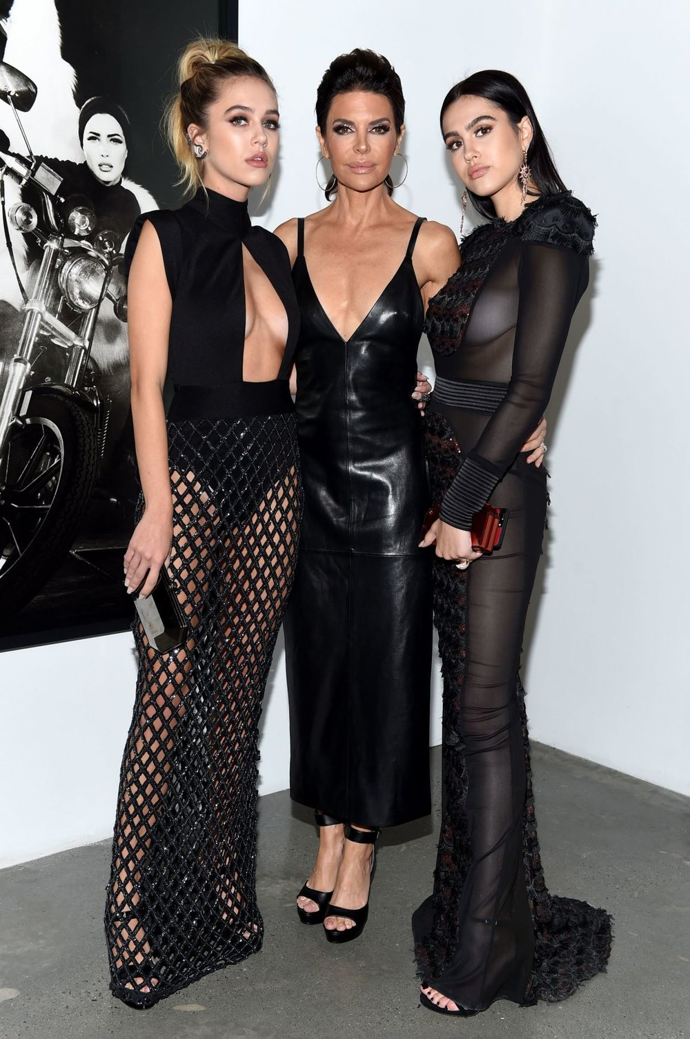 Lisa Rinna (middle) with her two daughters Delilah and Amelia, who are dubbed to be the next Hadid sisters