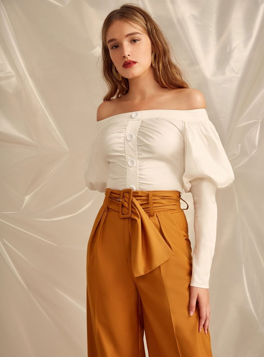 Accolade Top Ivory - C/MEO Collective
