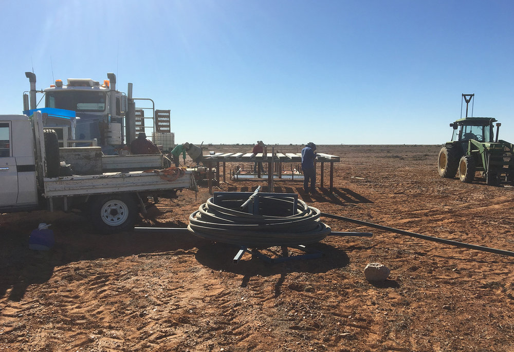 Constructing a tank stand: Anna Creek