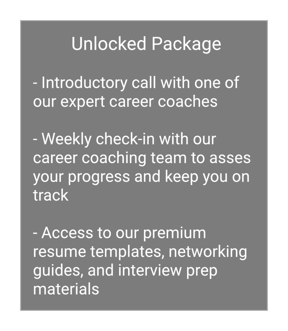 Coaching Programs — Unlocked Careers