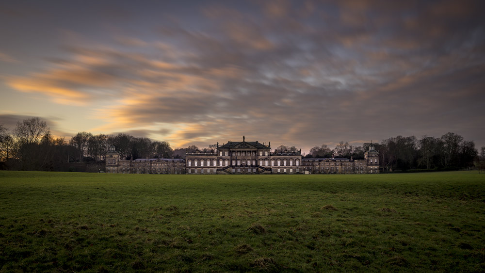 Wentworth Woodhouse at sunset