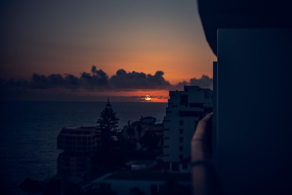 Lensbaby sunset.