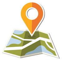 free info maps icon - link to download the map to Skuleberget & Naturum