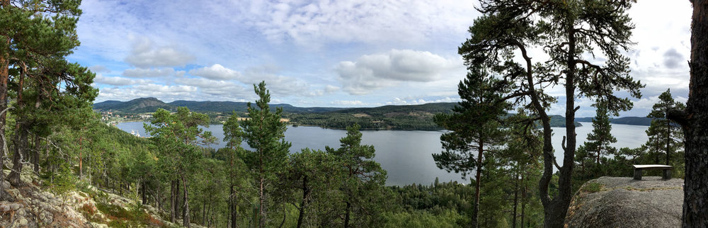 panoramic view of Dockstafjärden from Per Olsbo's shelter
