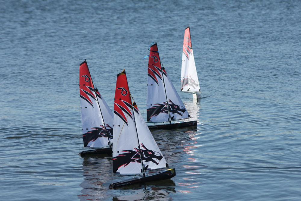Radio controlled Dragon Force 65 yachts