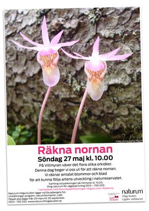 Naturum Höga Kusten - playbill Räkna nornan 2018