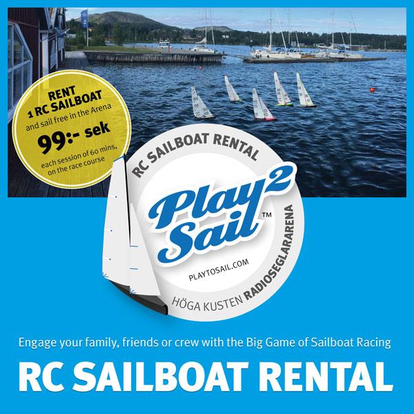 Play 2 sail: radio-controlled sailboat renting at Docksta Havet Base Camp