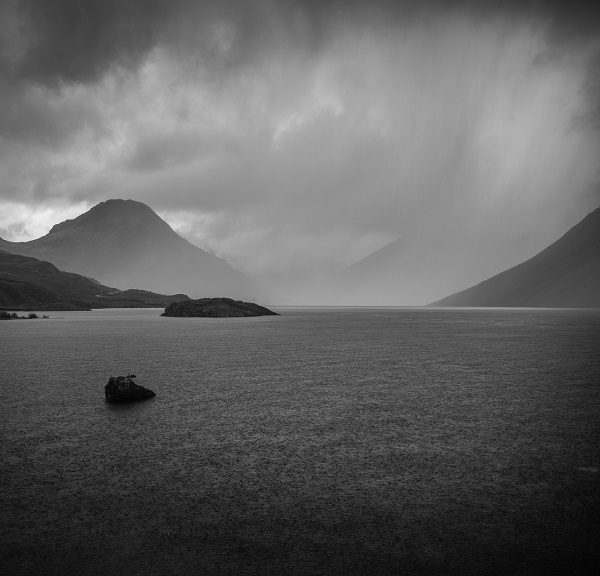 And It Poured -  The brutality of Wasdale illustrated perfectly. Those are raindrops on the lake surface, with the previous downpour hovering around the distant mountains and dumping what looks to be an ungodly amount of water on the residents of Wasdale Head.
