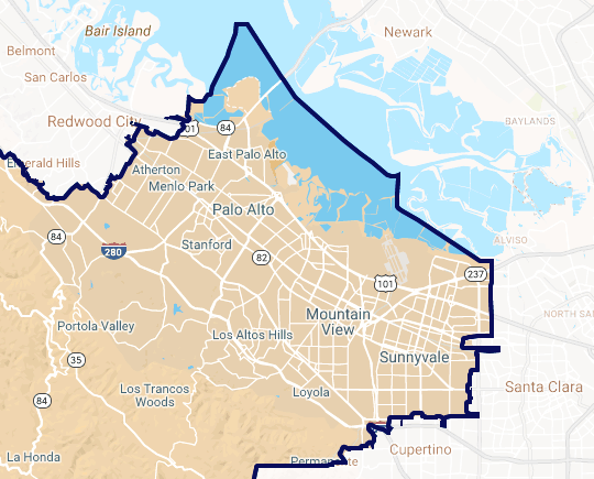 Bayshore region of Assembly District 24