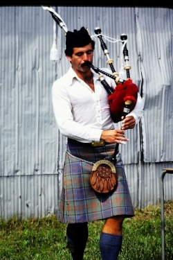 Bill competing in the solos at the 1980 Glengarry Highland Games.