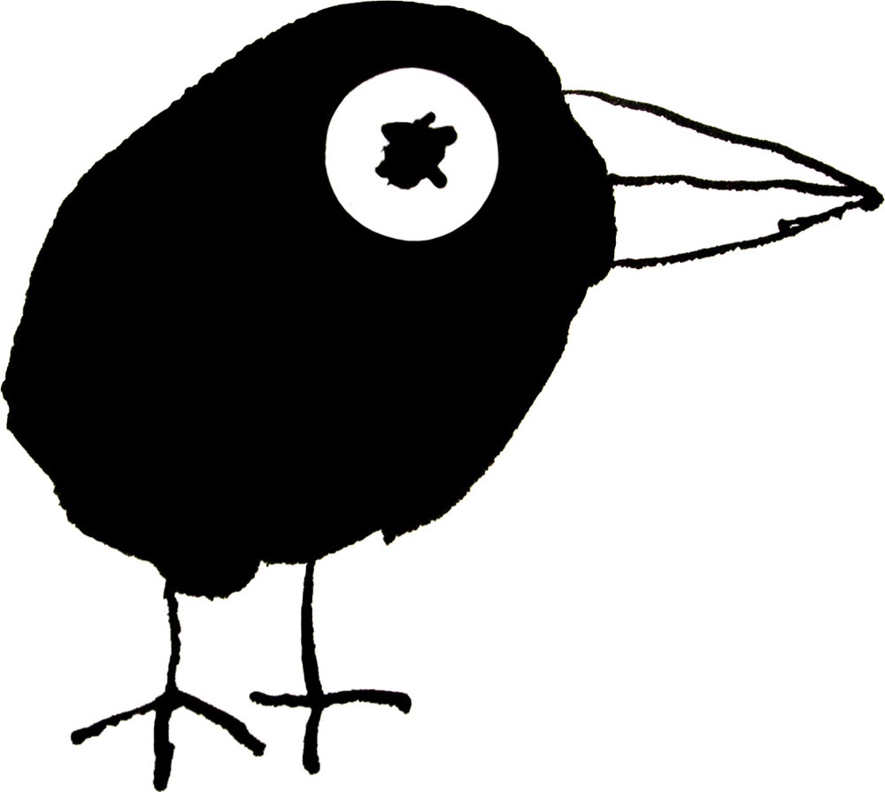 Alan Fletcher's drawing used for the Raven Press logo