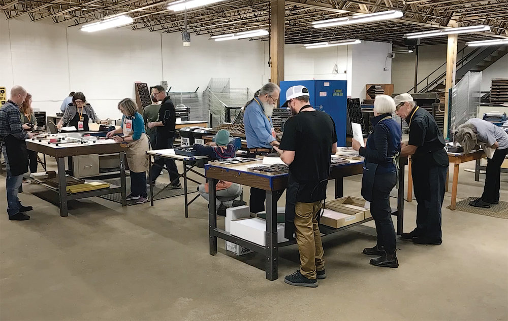 We ran 2 sold-out sessions of our H.N. Werkman Creative Letterpress workshop at the Hamilton Wood Type Museum's 2017 Wayzgoose