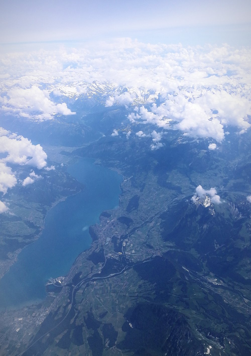 A really cool aerial photo I took on a flight. These are the Alps somewhere between France and Germany.