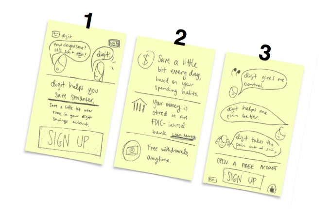 Example of a Storyboard from  Design Sprint Kit