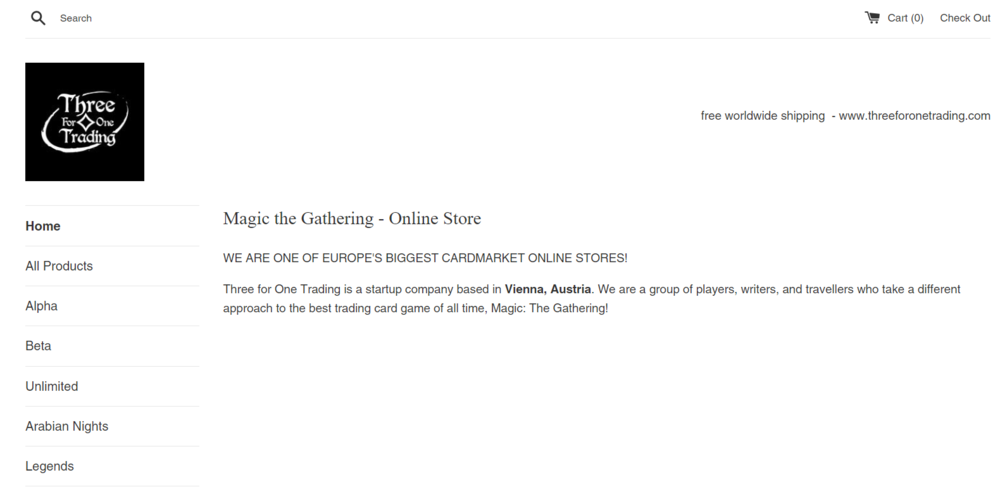 Our online shop for High-End MtG cards in USD. -