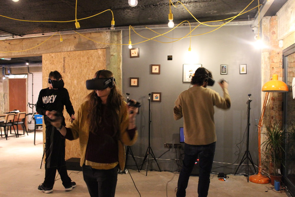 Party Bash - Free gaming night - Every last Thursday of the month at C:\ Side QuestBrighton's favourite free virtually reality gaming night. Party Bash splits players into two teams to compete head to head in a variety of VR games and challenges. Collect high scores and lead your team to epic victory! Winners go home with a prize! Check the calendar below to book free tickets for the next Party Bash.