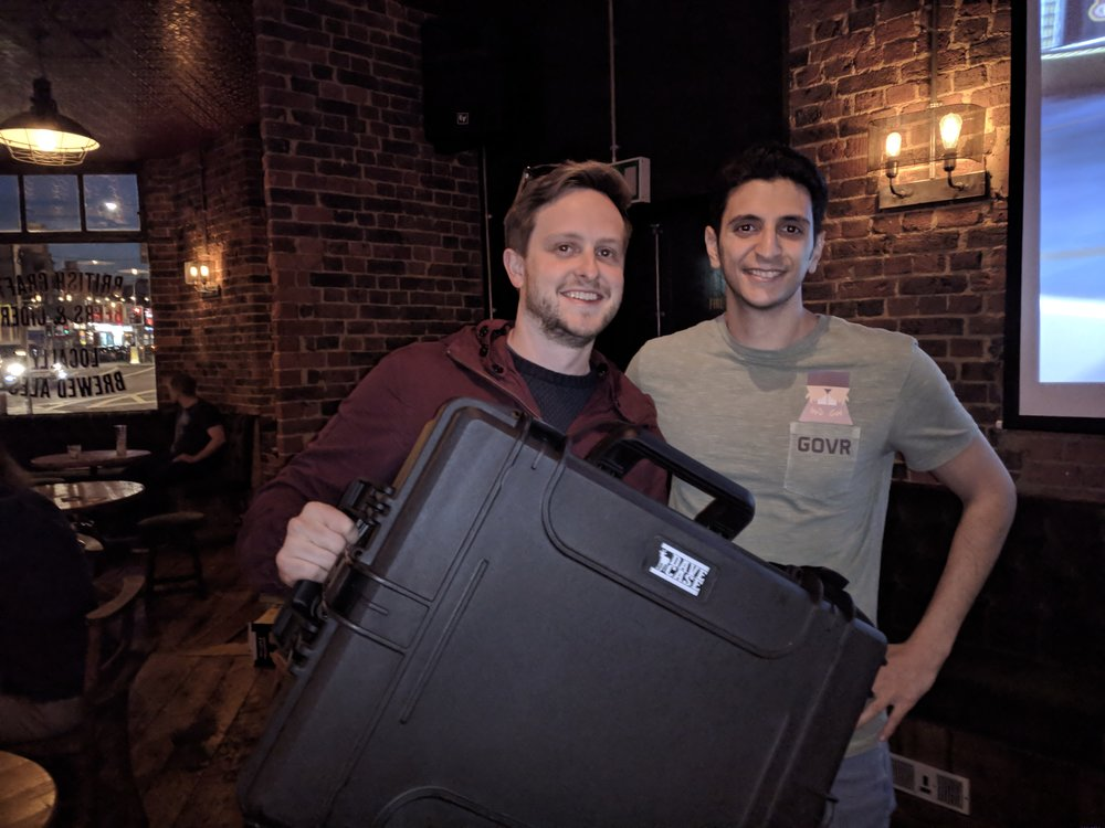 Ed Barton from Curiscope won the Oculus Rift case