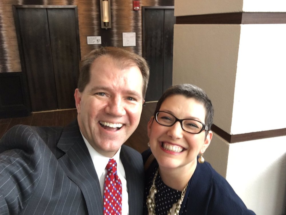 Bonnie with Texas Supreme Court Chief Justice Willet  (from Bonnie's Twitter)