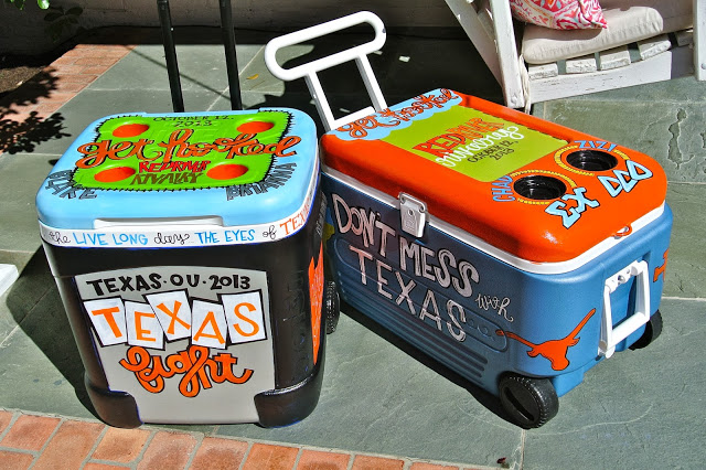 Look at these amazingly cute coolers from  Bethany's site.