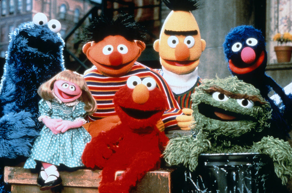 SESAME STREET To commemorate the thirtieth anniversary of Sesame Street and The Children's Television Workshop, Eisen was commissioned to design handbags inspired by the puppet characters of the popular children's show.
