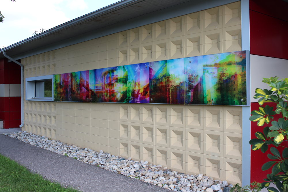 Artwork on the Bridgeport Community Centre