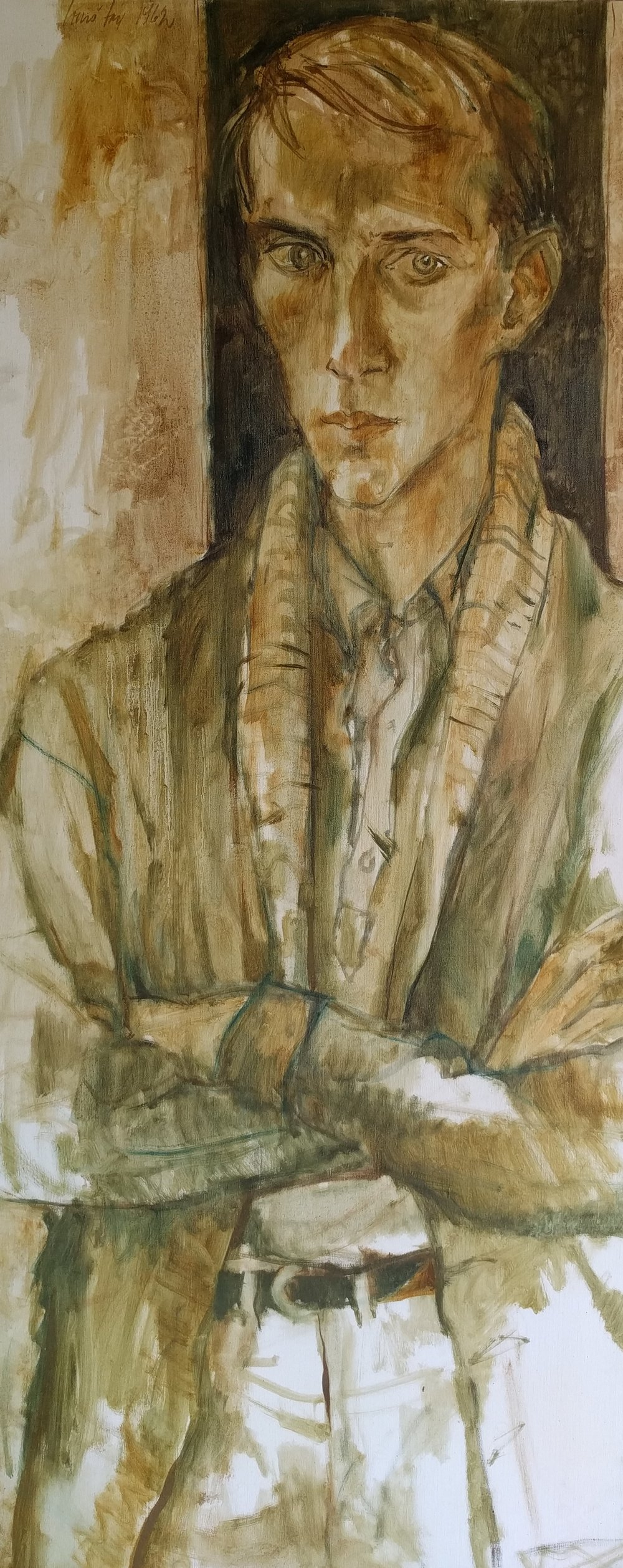 Clark Stewart is an artist and Professor Emeritus of the School of Art at The University of Tennessee. - Portrait by Louis Fox, 1962