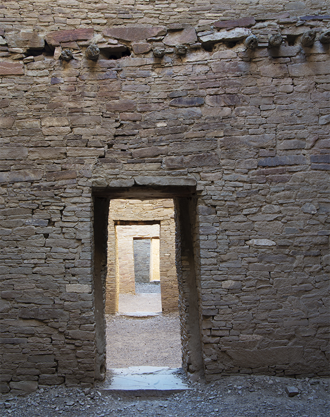 Pueblo Bonito Doorways, Chaco Canyon, New Mexico